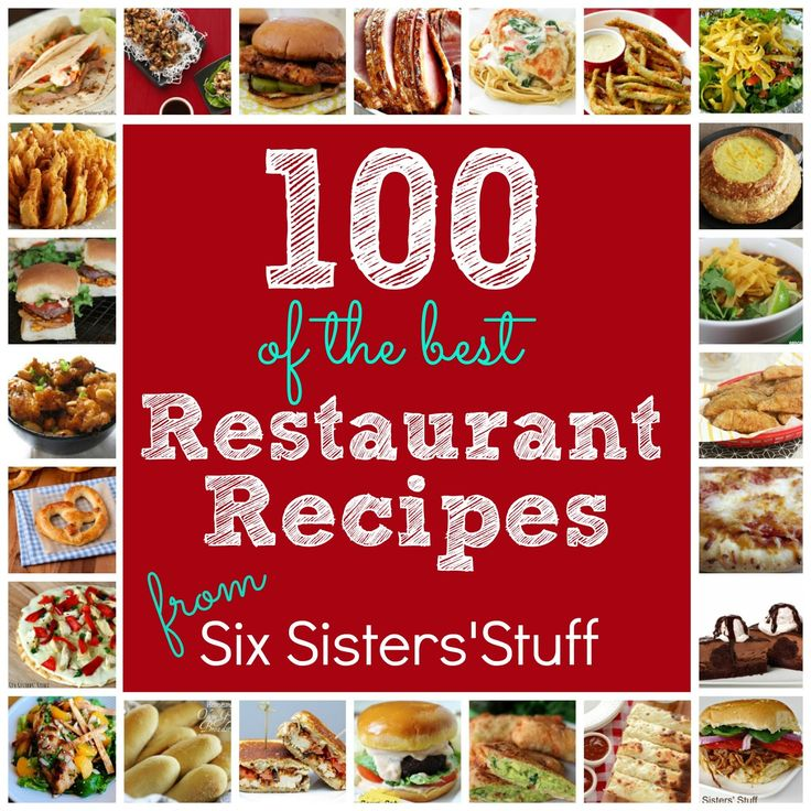 100 of the Best Copycat Restaurant Recipes!  Youll never need to eat out again! #recipes #dinner #copycat