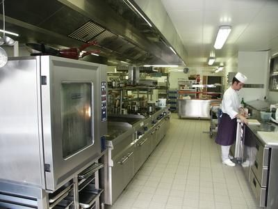 Commercial kitchen equipment meets health and industry codes and standards.