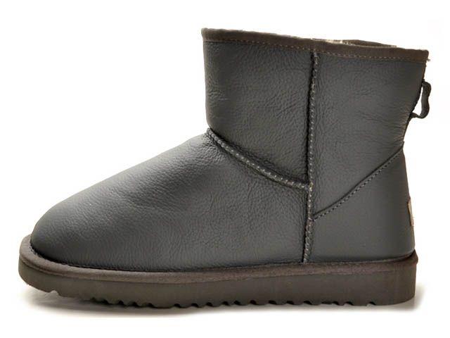 Ugg Classic Mini Womens Metallic Boots 5854 Charcoal #fashion #comfortable  #warm #unique