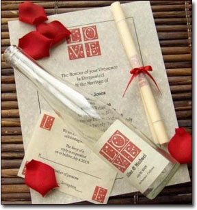 What A Unique Wedding Invitation! Invitation Message In A Bottle, Inc.    Party