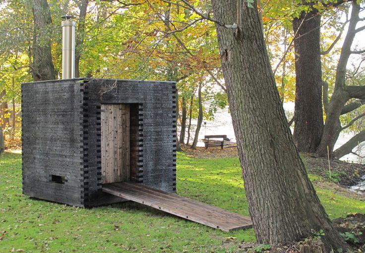 """mini sauna """"savu""""  = smoke"""