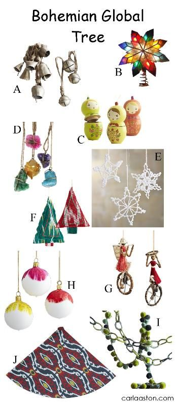 10 MUST-HAVE ornamentsfor your boho/ bohemianChristmas tree!