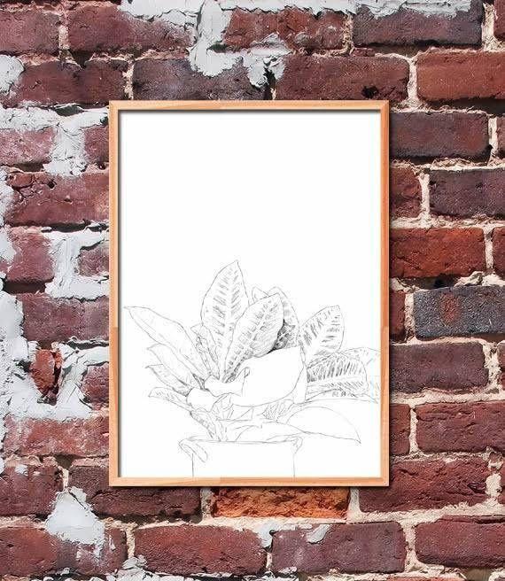 Croton Plant Printable Art by gendots