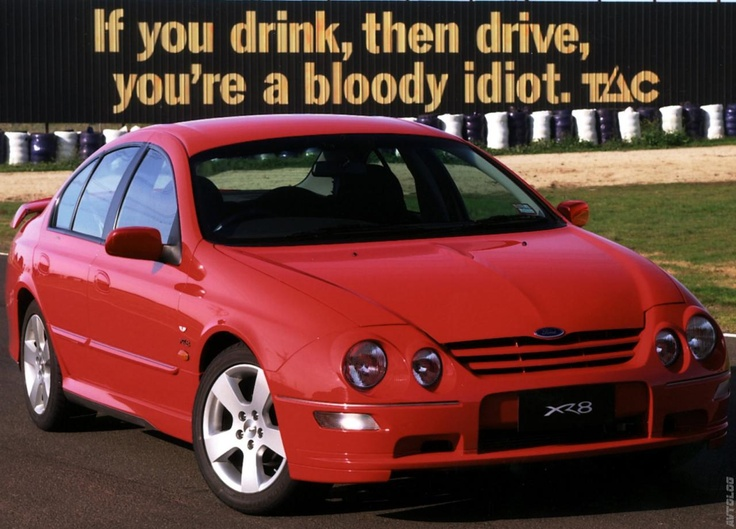 2001 Ford Falcon XR8.  With an IMPORTANT message.