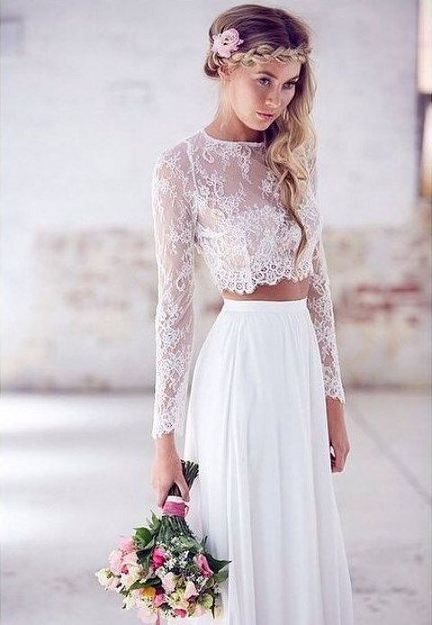 The Latest Wedding Trend: 44 Crop Top Bridal Outfits | HappyWedd.com