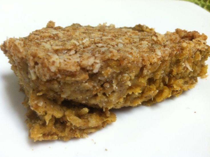 Pumpkin spiced oatmeal bars. | Gluten Free Recipes | Pinterest