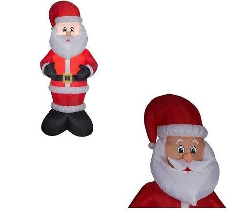 Christmas Santa Clause Airblown Inflatable LED 10ft Tall Outdoor Yard Decoration #ChristmasSantaClauseAirblownInflatable