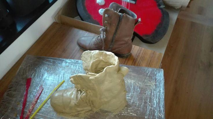 Tussenresultaat schoen : Mimesis