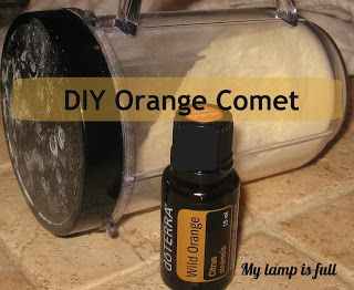 My Lamp is Full: Orange Comet...For a Tropical Toilet