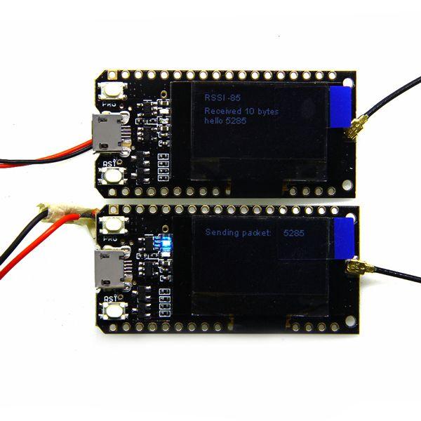 2Pcs Wemos® TTGO LORA32 868/915Mhz ESP32 LoRa OLED 0 96 Inch Blue