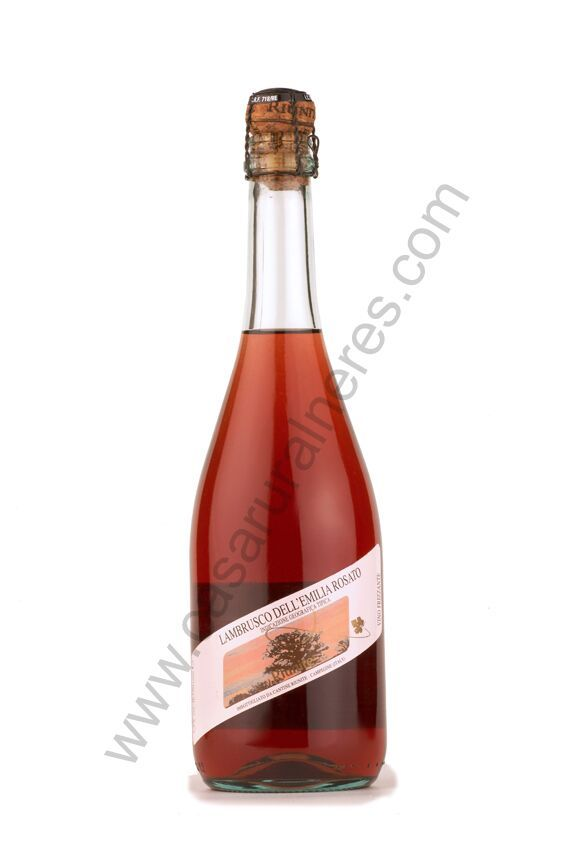 Vino rosado espumoso Lambrusco