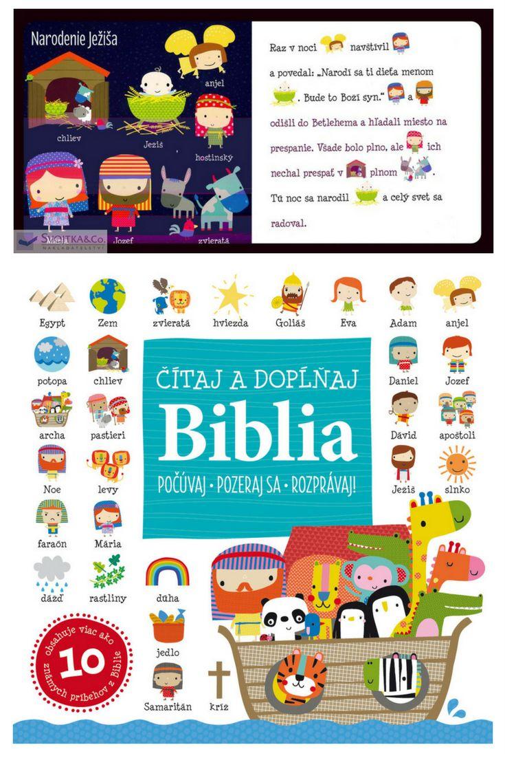 Táto zbierka obsahuje najznámejšie biblické príbehy zo Starého i Nového zákona. Klasické texty sú prerozprávanie pre deti pútavou formou, ktorá ich pomocou kombinácie textu a obrázkov vťahuje do príbehov a zapája do čítania. Ilustrované kľúčové slová deťom pomáhajú pri pochopení. #biblia #deti #kniha #ilustrovanabiblia #staryzakon #novyzakon