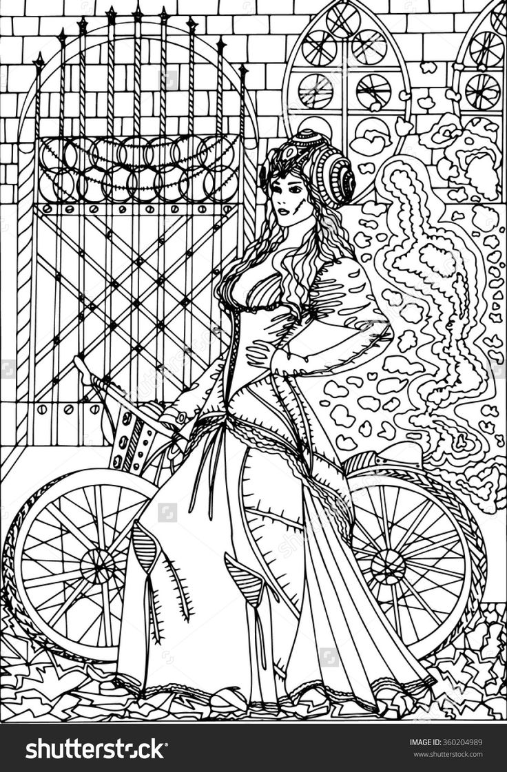351 best steampunk coloring pages for adults images on pinterest