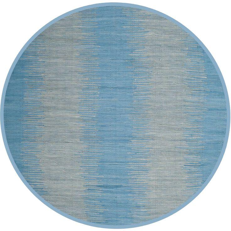 Montauk Dual Light Blue Round Rug Light blue area rug