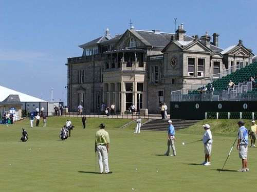 St Andrews Golf Course in Scotland.   You can walk all over the course on Sundays...sooo fun.