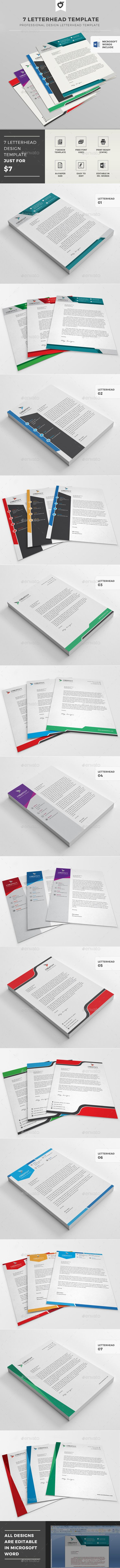 Letterhead Template - Letterhead Design Template Vector EPS, AI Illustrator. Download here: https://graphicriver.net/item/letterhead-template/12251139?ref=yinkira