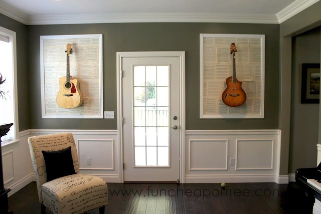 Hanging Guitar And Other Decor Ideas For A Music Room