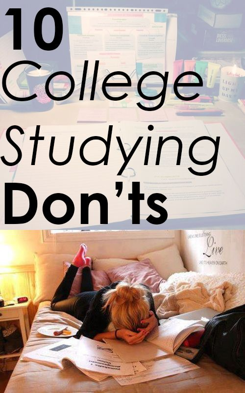 10 College Studying don'ts
