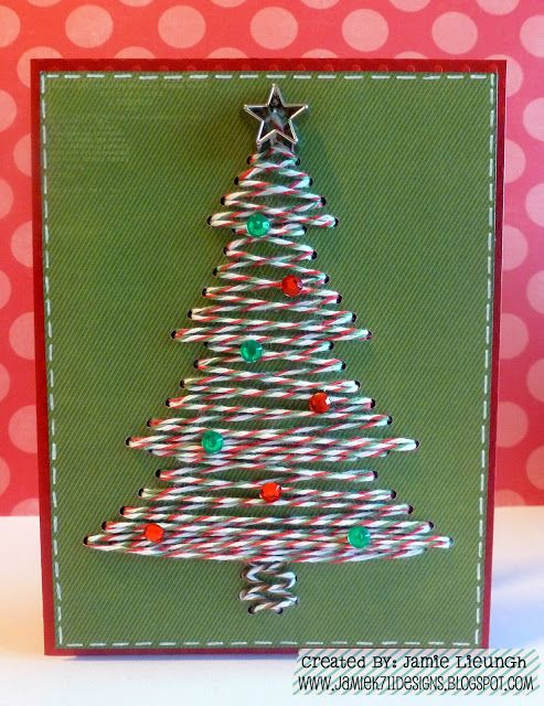 Twine It Up! with Trendy Twine: Merry Christmas Eve! Trendy Tree Card
