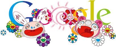 Summer solstice 2011 (or first day of summer, or longest day) illustration for Google by Takashi Murakami.  My birthday!