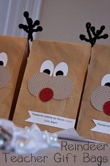 Reindeer Teacher Gift Bags