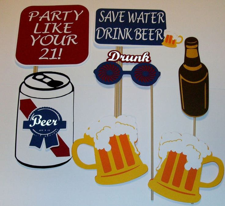 DIY Photo Props Drinking Party/ Drunk/Beer Mugs/Beer Can