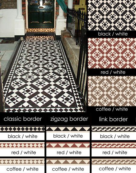 Suppliers of Euthentic Victorian Geometric Encaustic Tiles I love this!