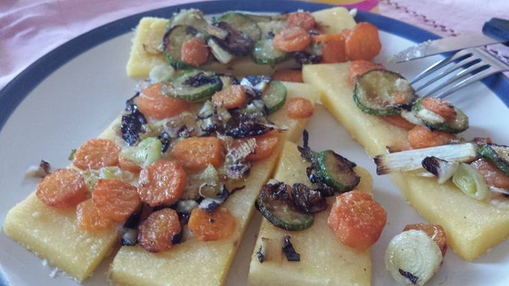 grilled polenta with sauteed vegetables