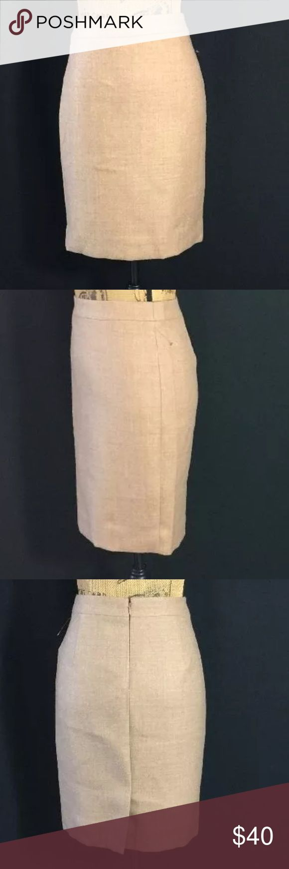 J.Crew No. 2 Pencil Skirt Camel Brown Wool Work 4P Like new J.Crew No. 2 pencils skirt size 4 Petite. A camel/brown color. 100% soft Wool. Lined. J. Crew Skirts Pencil