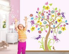 Ideal Wandtattoo Babyzimmer Wald Baum u