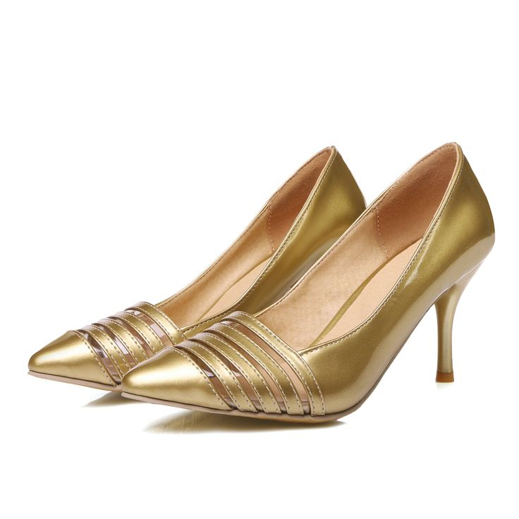 >> Click to Buy <<  New 2016 Glossy Sexy Rome Women Pumps Red Gold Silver High Heels Ladies Nude Dress Shoes AM8-1 Plus Big Small Size 30 48 #Affiliate