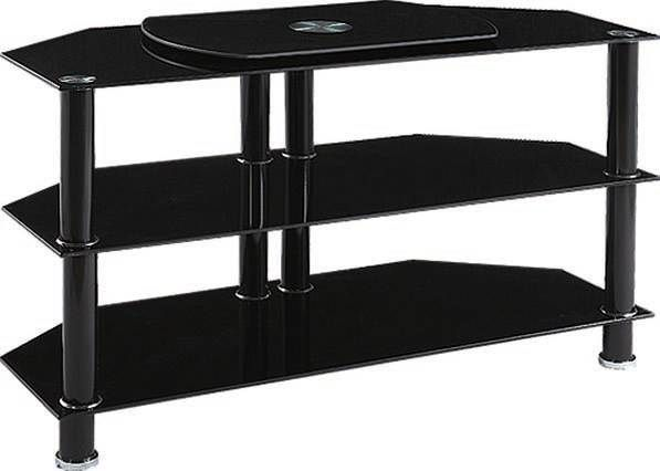 Marabel Tv Stand w/Black Tempered Glass 91066