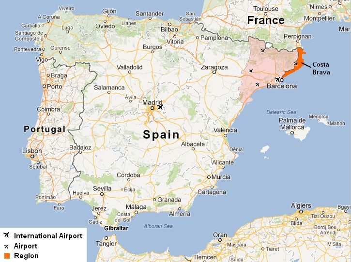 Google Spain Map.Costa Brava Map Recherche Google Holiday Destinations Map Of