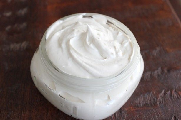 Vanilla Body Butter Ingredients *Use scant measurements of each, since whipping this mixture makes it fluffy and won't quite fit into a one-cup jar. 1/2 cup* shea butter 1/4 cup* coconut oil 1/4 cup* almond oil 2 Tablespoons vanilla extract