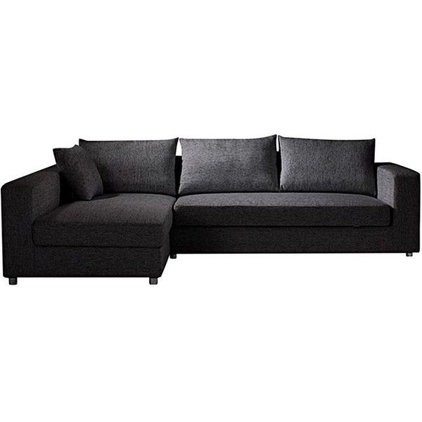 Skylar 3 Seater Sofa Bed, Left Chaise, Dark Grey ❤ Liked On Polyvore  Featuring