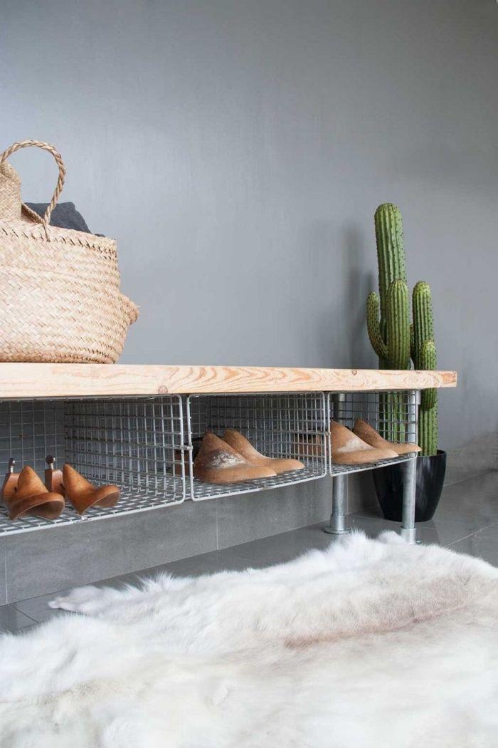 1001 Idees Pour Trouver L Astuce Rangement Chaussures Ideale Pour Votre Interieur Astuce Rangement Chaussures Banc Avec Rangement Chaussures Rangement Chaussures