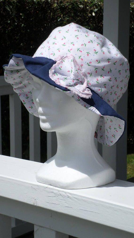 9b44a82f08fa Kids designer summer white and blue hat lined lineva   chapeau de ...