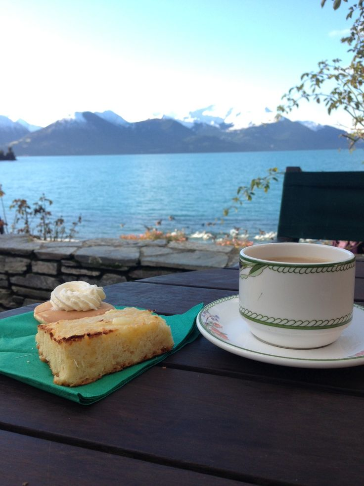 @Real Journeys Walter Peak afternoon tea - famous scones, pikelets and a cup of tea with an awesome view! http://www.realjourneys.co.nz/
