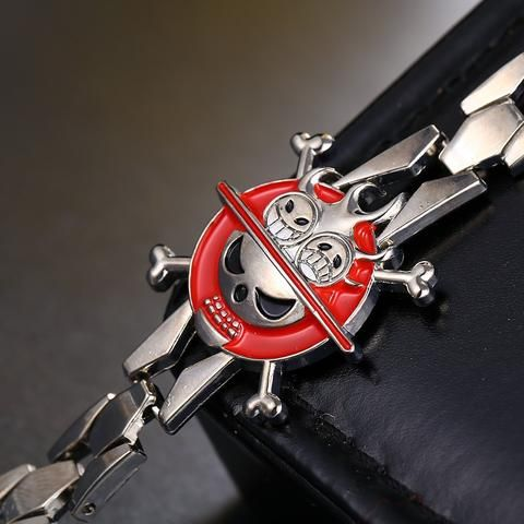One Piece Portgas D Ace Cross Skull Bracelet - The Cynical Clique - 1