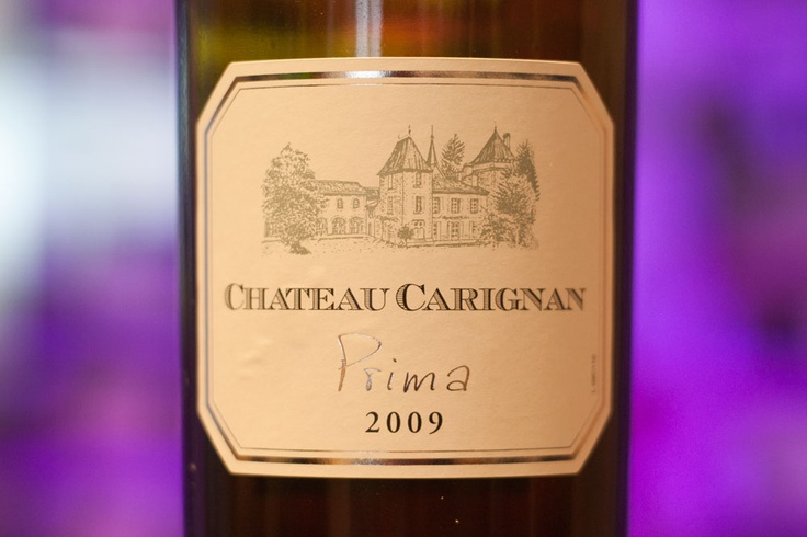 Chateau Carignan 'Prima'. From the fairly humble Côtes de Bordeaux appellation, this 100% Merlot turned out to be an absolutely delicious, soft and ripe wine with beautiful balance and supple tannins. It proved there is still value to be found in Bordeaux!