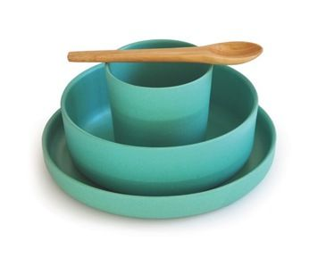 BIOBU (by EKOBO) Bamboo Kids Dinner Set in Lagoon set contains plate  sc 1 st  Pinterest & 16 best Eating - Kids images on Pinterest | Kids dinner sets Side ...