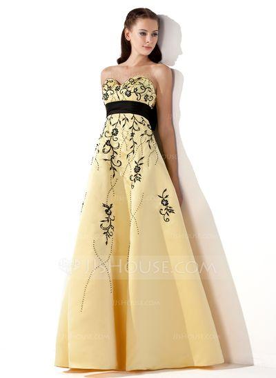Prom Dresses - $168.99 - Empire Sweetheart Floor-Length Satin Prom Dress With Embroidered Sash Beading (018002324) http://jjshouse.com/Empire-Sweetheart-Floor-Length-Satin-Prom-Dress-With-Embroidered-Sash-Beading-018002324-g2324?no_banner=1&utm_source=facebook&utm_medium=post&utm_campaign=6005941673279&utm_content=140318_4