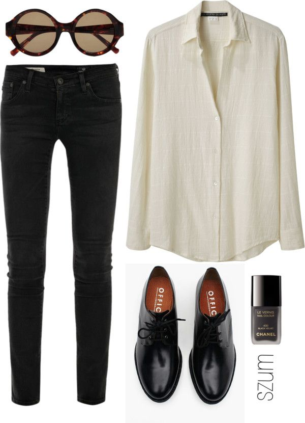 """94"""" by szum - Love the black jeans, shoes and the color, collared, buttoned up shirt (fitted -would be ideal)."""