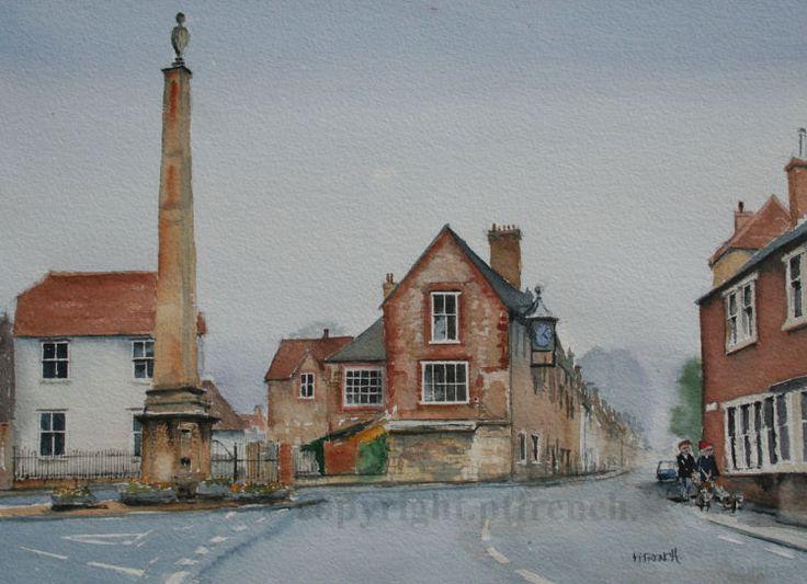 The Obelisk, Warminster. -Watercolour.
