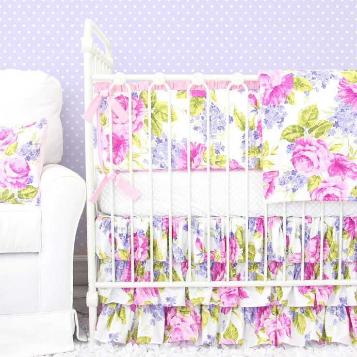 1000 Ideas About Purple Crib Bedding On Pinterest Girl