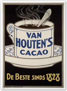 Reclame posters   1900 - 1925   Van Houten's Cacao, de beste sinds 1828