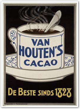 Reclame posters | 1900 - 1925 | Van Houten's Cacao, de beste sinds 1828