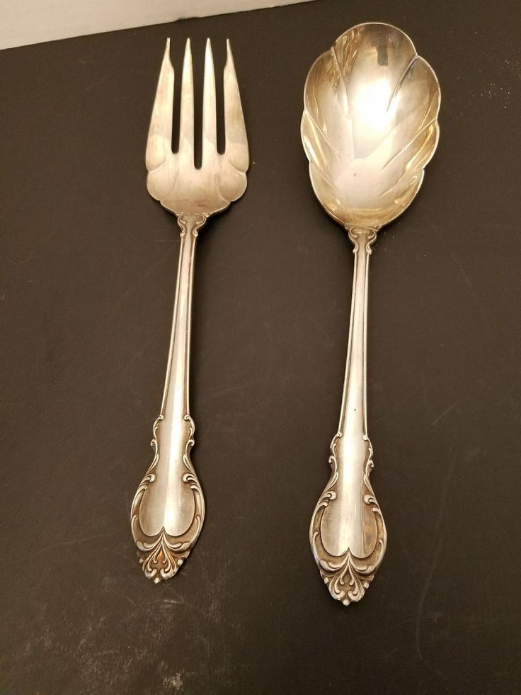Vintage  Holmes & Edwards IS Deep Silver Salad Serving Set VC25 Set needs further polishing.   It has had light use.  Approximately 9  length.  See photos for actual condition.   https://nemb.ly/p/SkcqQggkW Happily published via Nembol