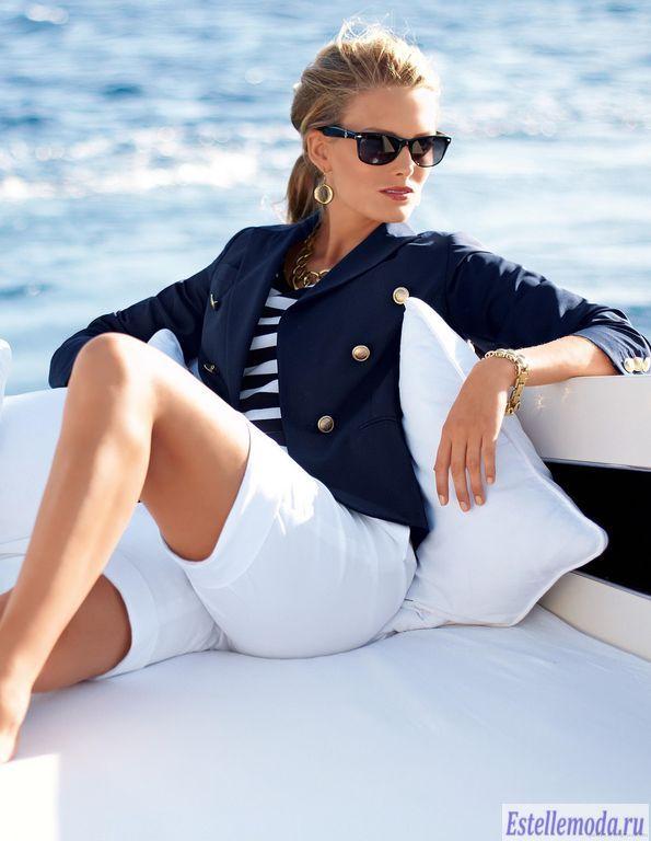 Морской стиль в одежде (20 фото)