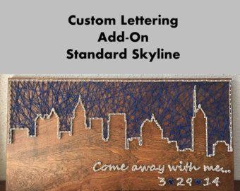 Skyline di Chicago String Art Chicago Illinois arte | Etsy